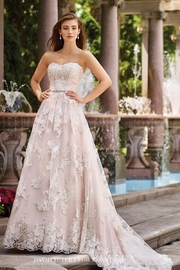 David Tutera for Mon Cheri Lace A-Line Gown - Product Mini Image