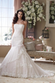 David Tutera for Mon Cheri Lace Trumpet Gown - Product Mini Image