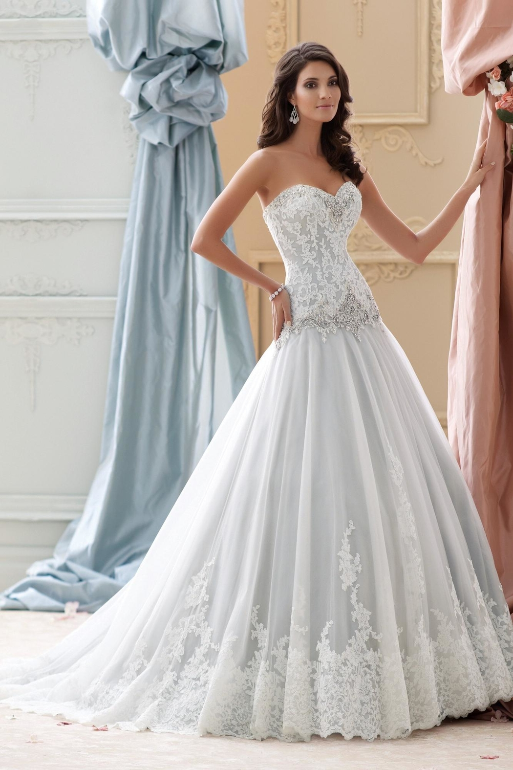 David Tutera for Mon Cheri Lace Tulle Ballgown from Ohio by ...
