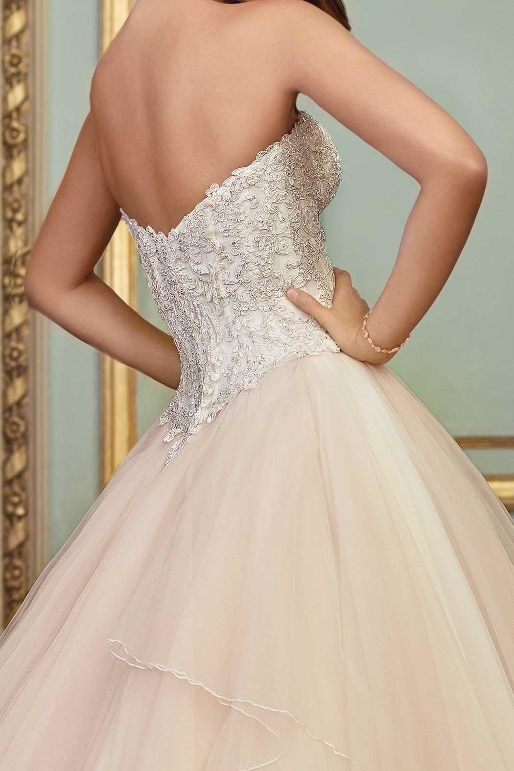 David Tutera for Mon Cheri Layered Tulle Two-Piece - Front Full Image