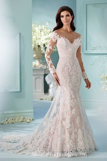 David Tutera for Mon Cheri Long Sleeve Gown from Ohio by Jillian\'s ...