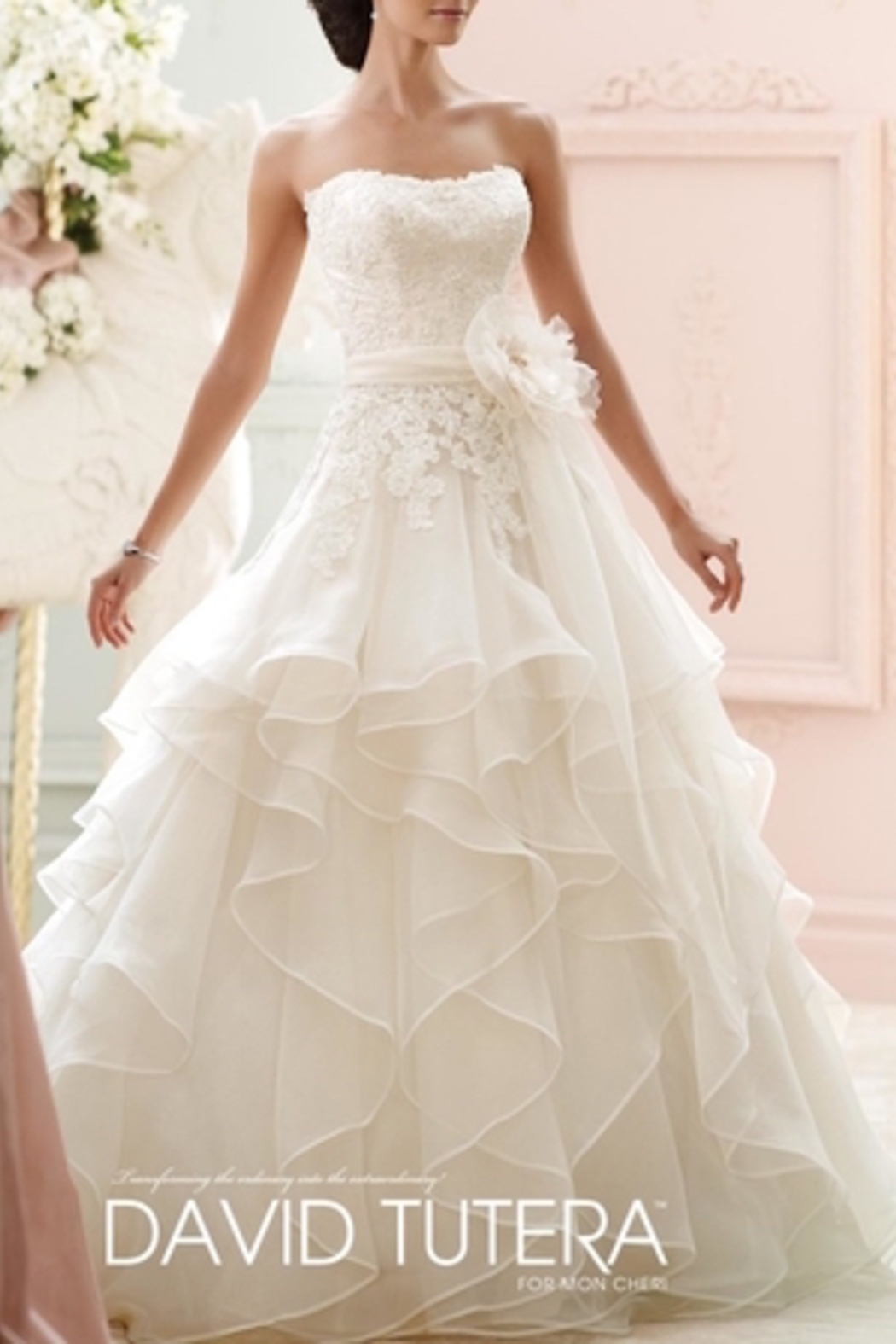 David Tutera For Mon Cheri Ruffle Wedding Gown From Ohio By