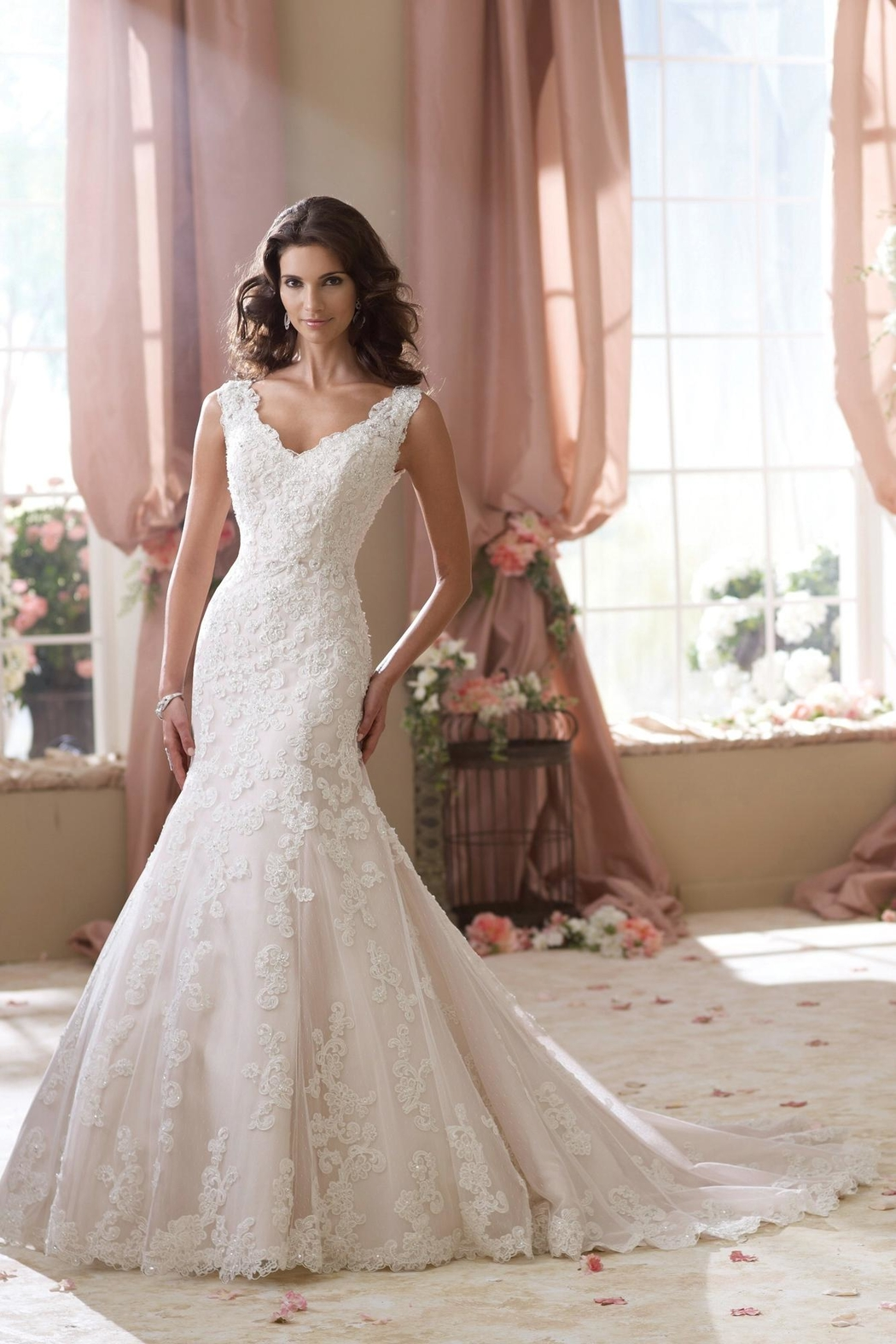 David Tutera for Mon Cheri Sleeveless Lace Mermaid - Main Image