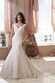 David Tutera for Mon Cheri Sleeveless Lace Mermaid - Front cropped