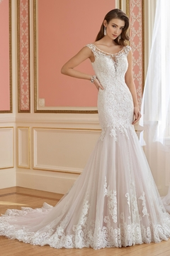 David Tutera for Mon Cheri Trumpet Wedding Gown - Product List Image