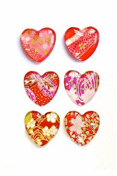 Shoptiques Product: Chiyogami Heart Magnets