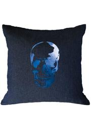 DAVINCI Denim Skull Pillow - Product Mini Image