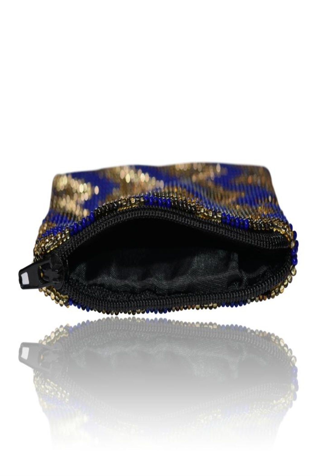 DAVINCI Glass Beaded Pouch - Back Cropped Image