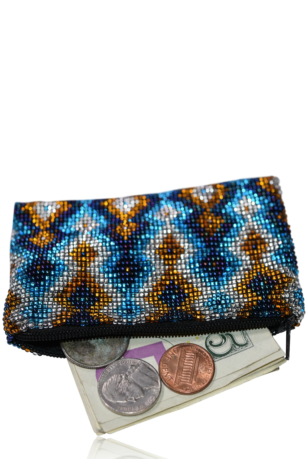 DAVINCI Glass Beaded Pouch - Side Cropped Image