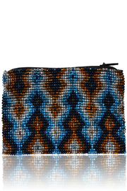 DAVINCI Glass Beaded Pouch - Front cropped