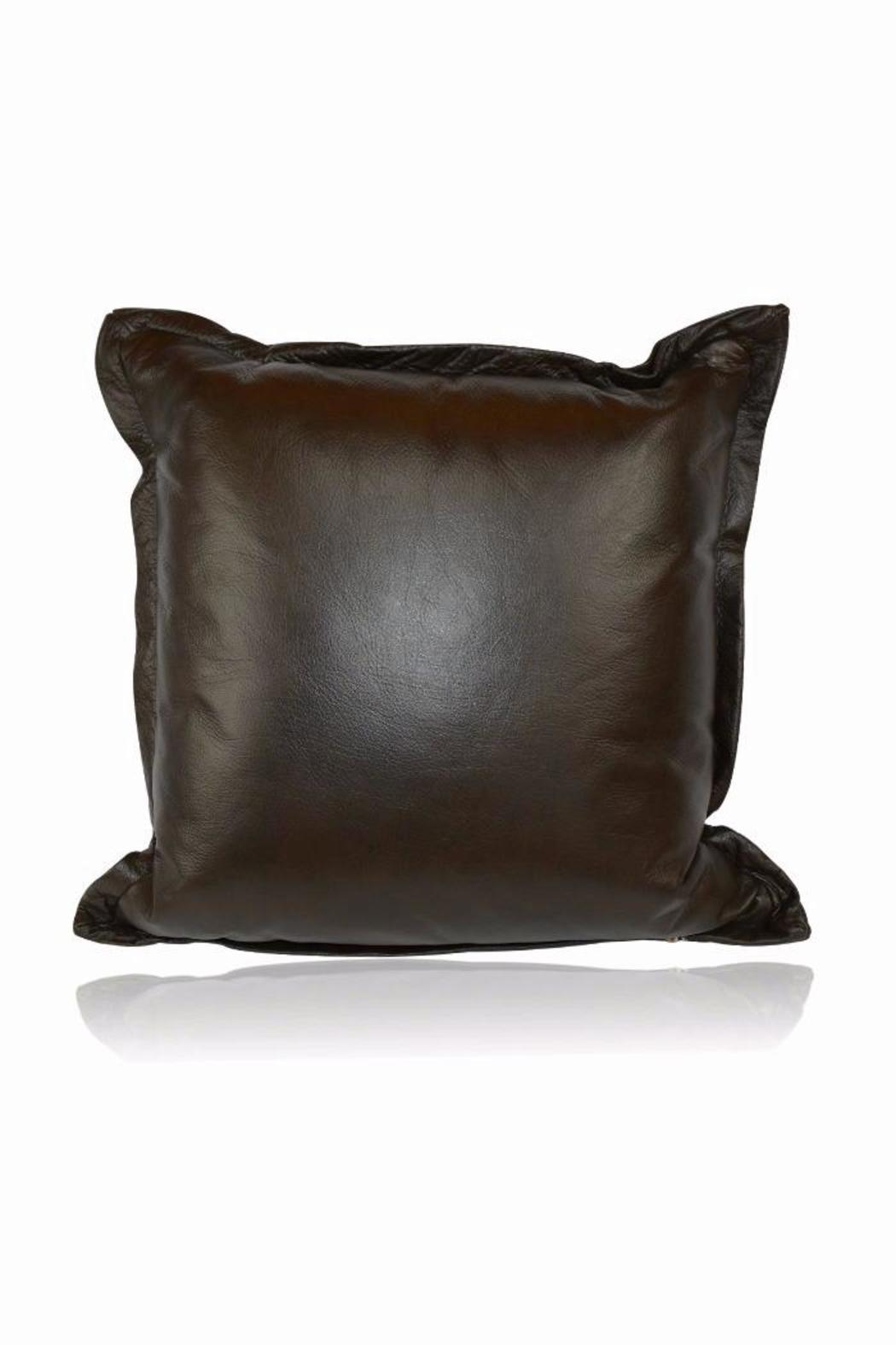 DAVINCI Italian Leather Pillow - Front Cropped Image