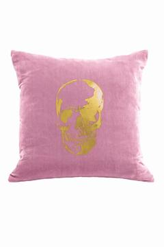 DAVINCI Pink Velvet Skull Pillow - Product List Image