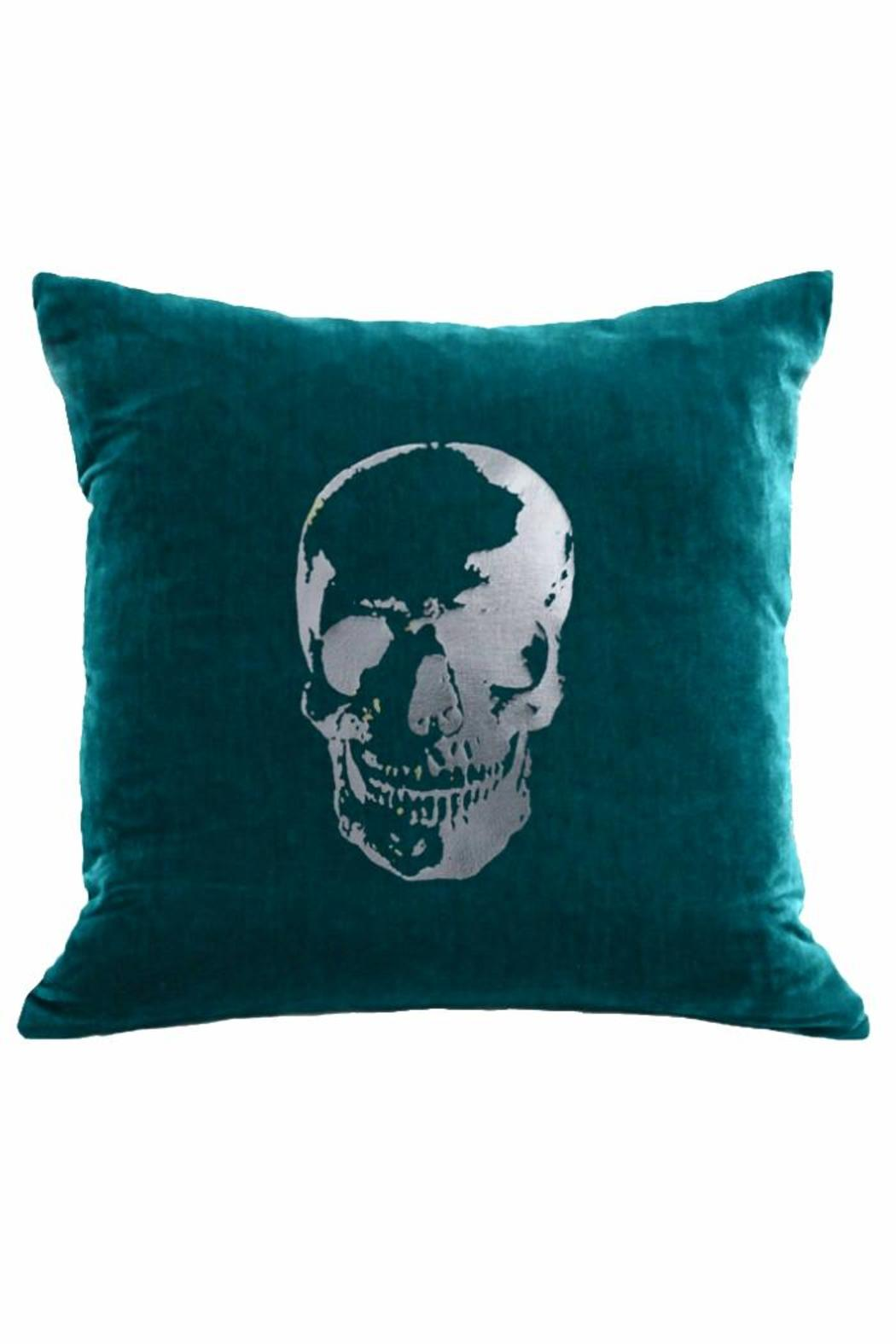 DAVINCI Velvet Skull Pillow from California by DAVINCI Los Angeles ...