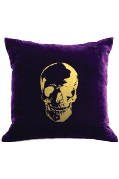 Shoptiques Product: Velvet Skull Pillow