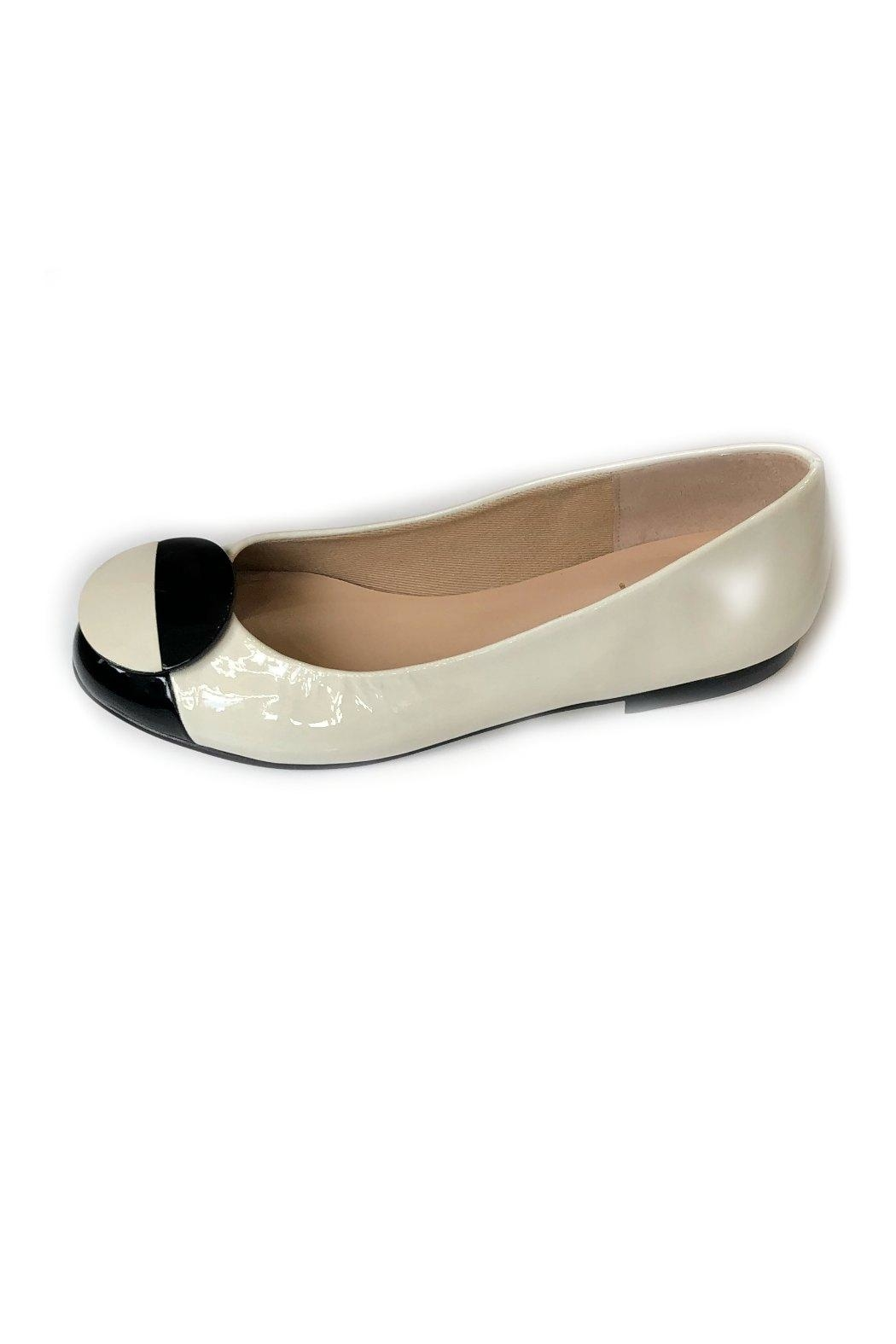 French Sole Dawn Patent-Leather Flats - Main Image