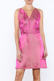 Dawn Sunflower Pink Silk Dress - Product Mini Image