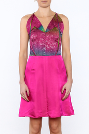 Dawn Sunflower Pink Silk Dress - Side cropped