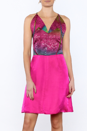 Dawn Sunflower Pink Silk Dress - Front cropped