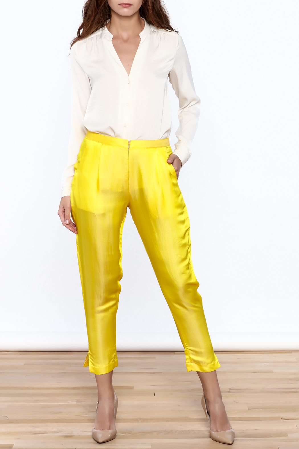 Dawn Sunflower Basic straigth Pant - Front Full Image