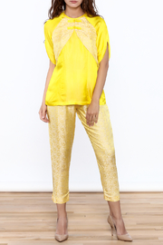 Dawn Sunflower Floral Yellow Blouse - Front cropped