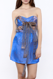 Dawn Sunflower Soft Blue Tube Dress - Product Mini Image