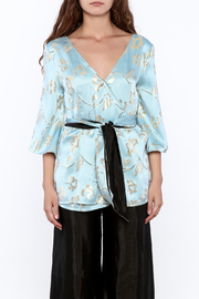 Dawn Sunflower Draped Kimono blouse - Product Mini Image