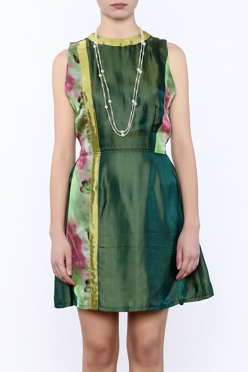 Dawn Sunflower Floral Dress - Side Cropped Image