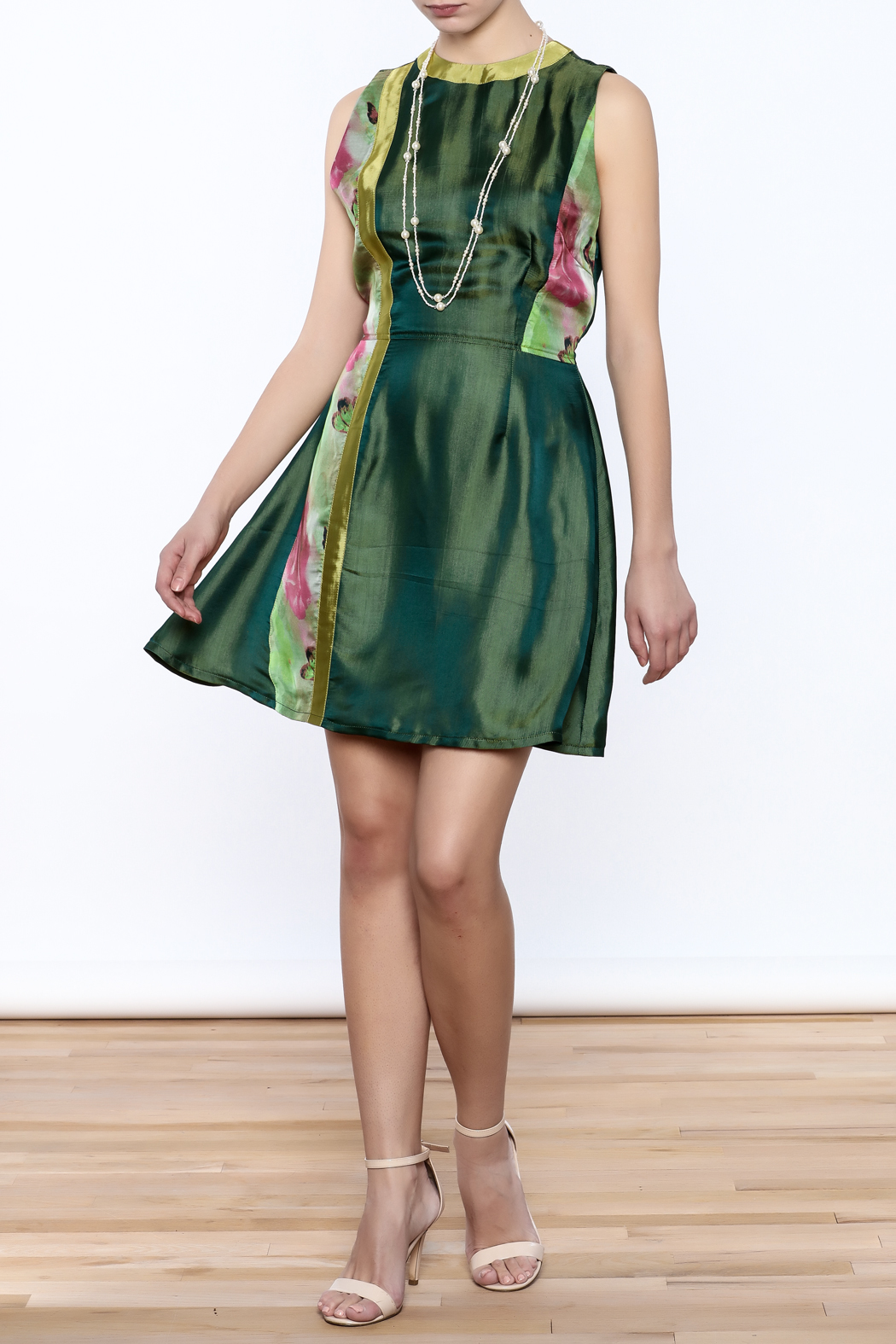Dawn Sunflower Floral Dress - Front Full Image