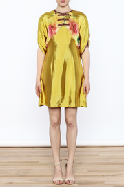 Dawn Sunflower Floral Vest Dress - Front full body
