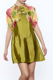 Dawn Sunflower Floral Vest Dress - Product Mini Image