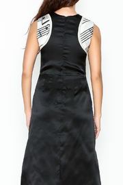 Dawn Sunflower Guitar Abstract A-line Focal Point Dress - Back cropped