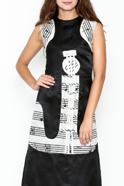 Dawn Sunflower Guitar Abstract A-line Focal Point Dress - Front cropped