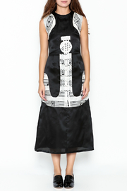 Dawn Sunflower Guitar Abstract A-line Focal Point Dress - Front full body