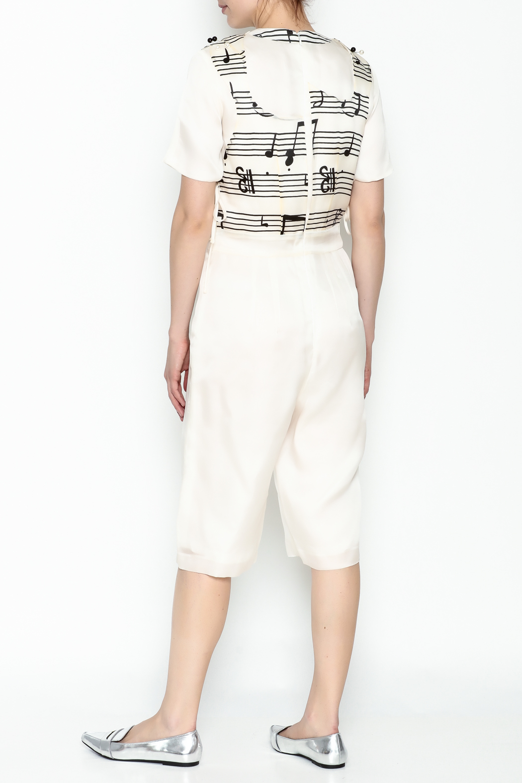 Dawn Sunflower Guitar Abstract Midi Jumpsuit - Back Cropped Image