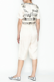 Dawn Sunflower Guitar Abstract Midi Jumpsuit - Back cropped