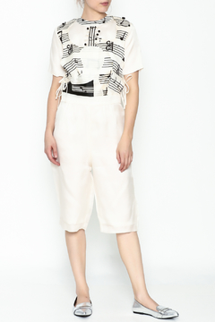 Shoptiques Product: Guitar Abstract Midi Jumpsuit