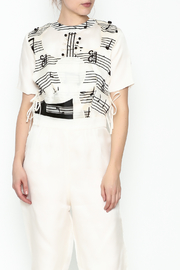 Dawn Sunflower Guitar Abstract Midi Jumpsuit - Other