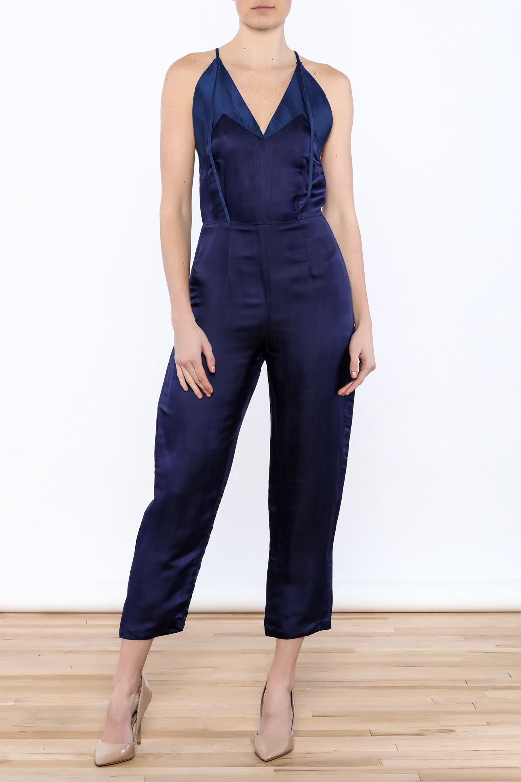 Dawn Sunflower Sexy Sleeveless Jumpsuit - Main Image