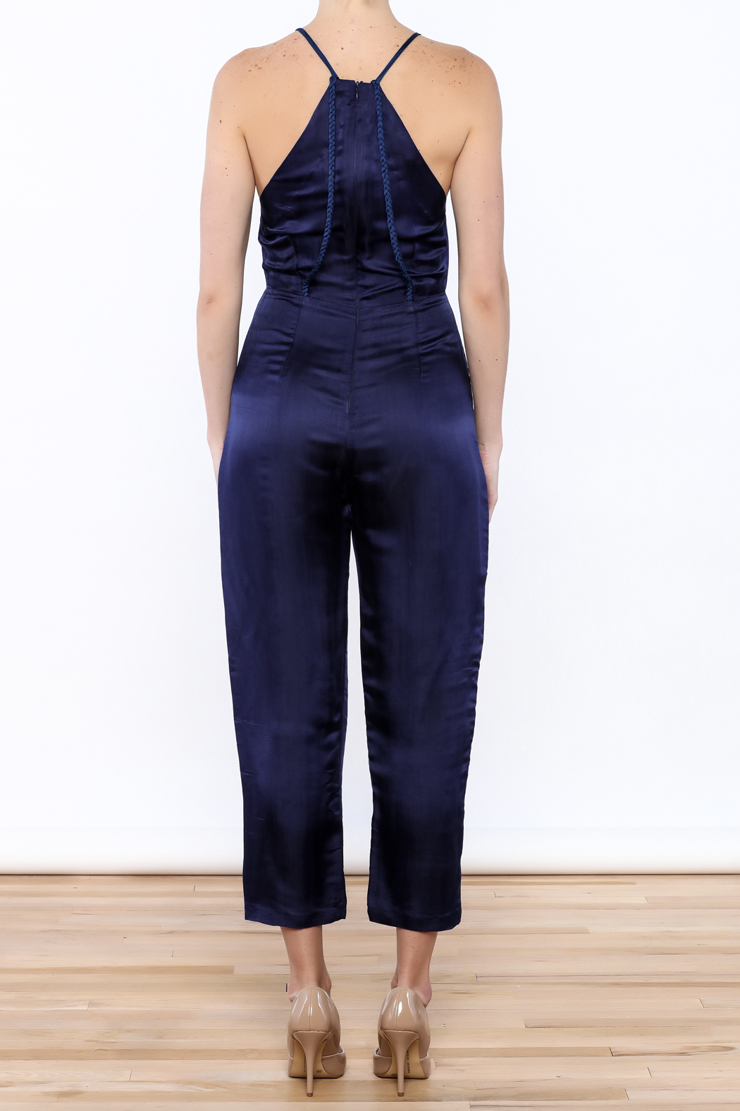 Dawn Sunflower Sexy Sleeveless Jumpsuit - Back Cropped Image