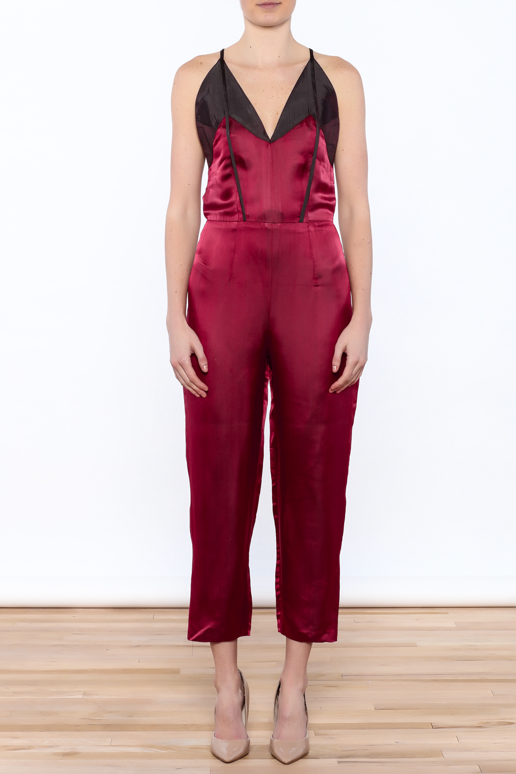 Dawn Sunflower Sexy Sleeveless Jumpsuit - Front Cropped Image