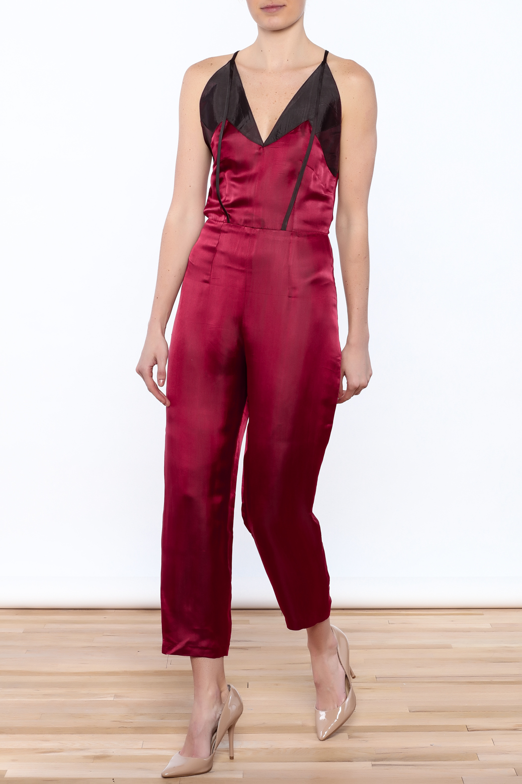Dawn Sunflower Sexy Sleeveless Jumpsuit - Front Full Image