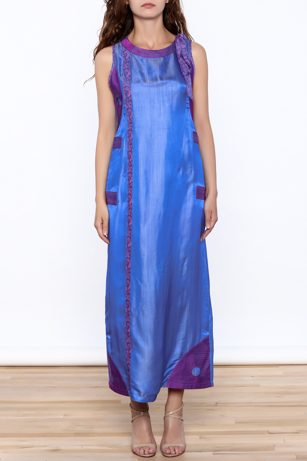 Dawn Sunflower Long Yin Yang Dress - Front Cropped Image