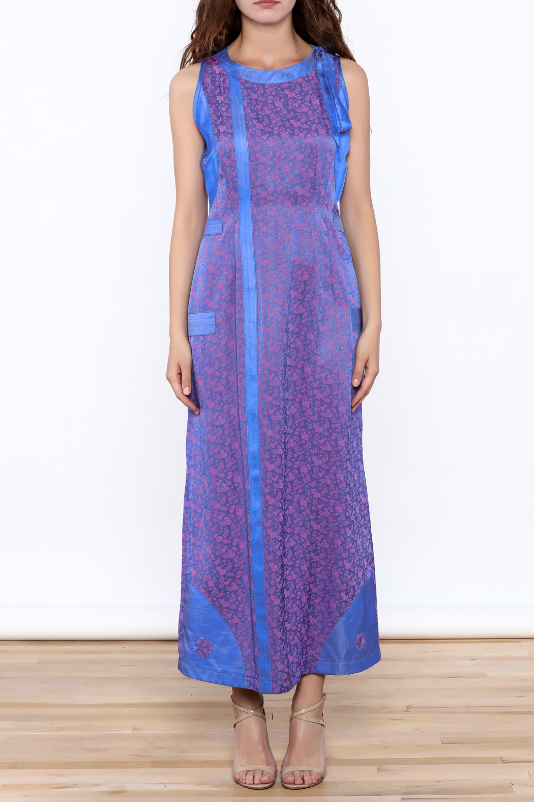Dawn Sunflower Long Yin Yang Dress - Front Full Image