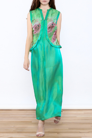 Dawn Sunflower Green Maxi Dress - Product Mini Image