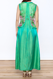 Dawn Sunflower Green Maxi Dress - Back cropped