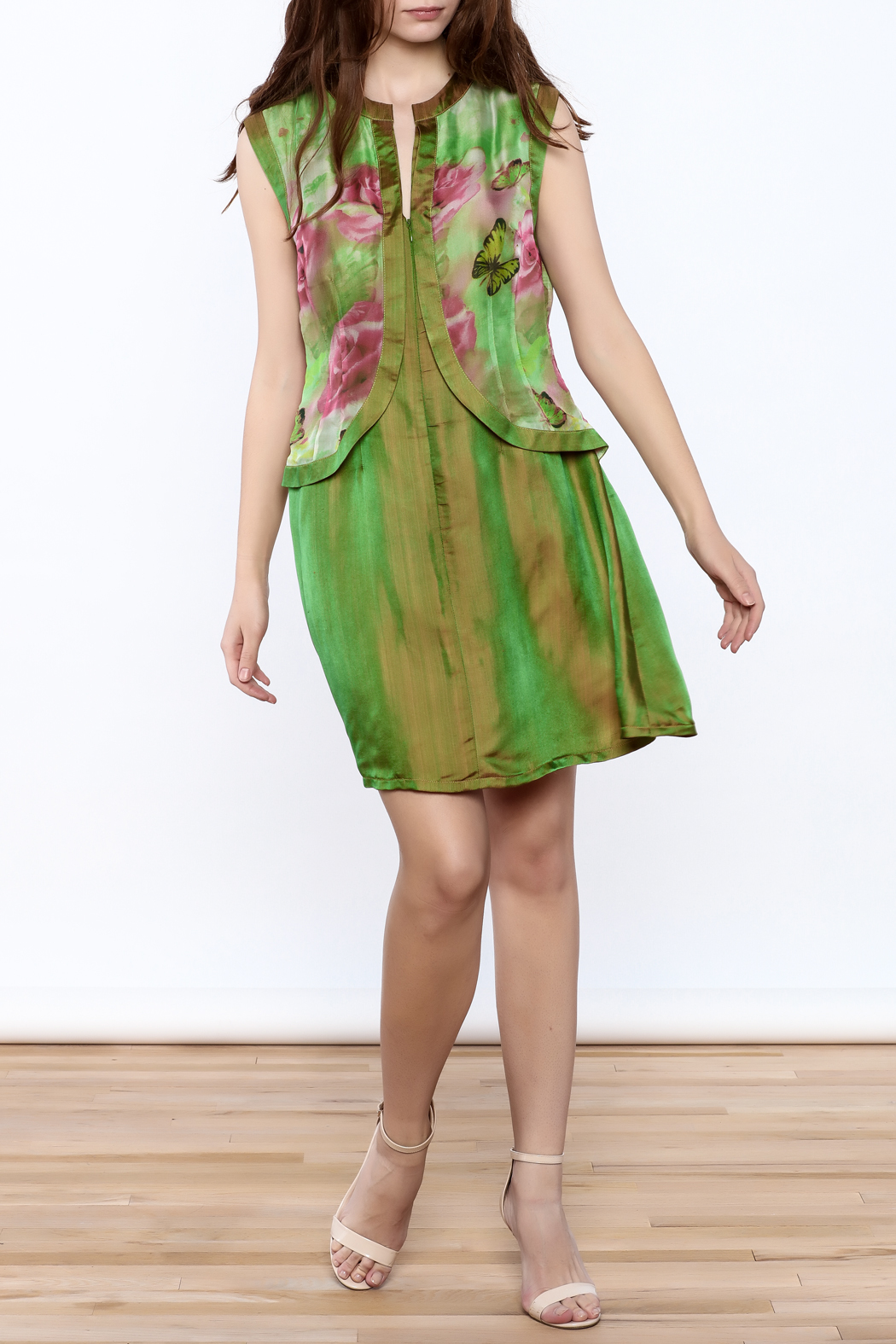 Dawn Sunflower Mini Floral Dress - Front Full Image