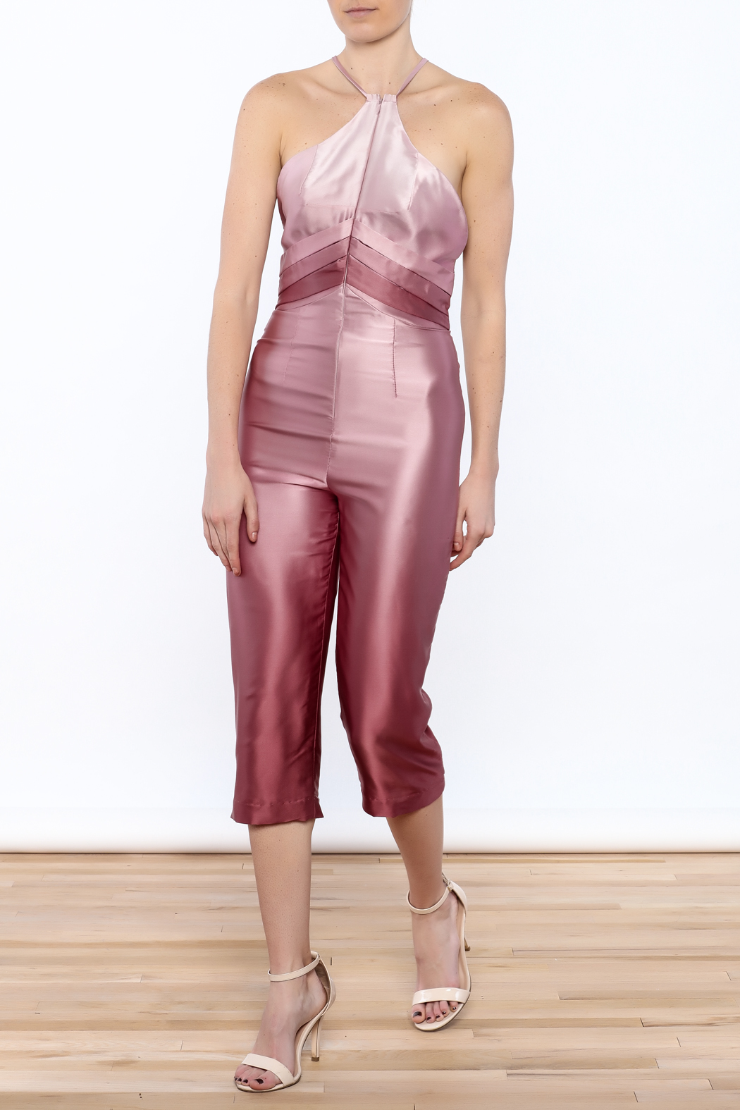 Dawn Sunflower Ombre Pink Jumpsuit - Main Image