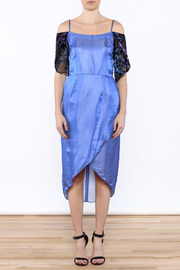 Dawn Sunflower Blue Tulip Dress - Front cropped