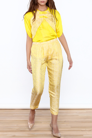 Dawn Sunflower Yellow Floral Pant - Product Mini Image