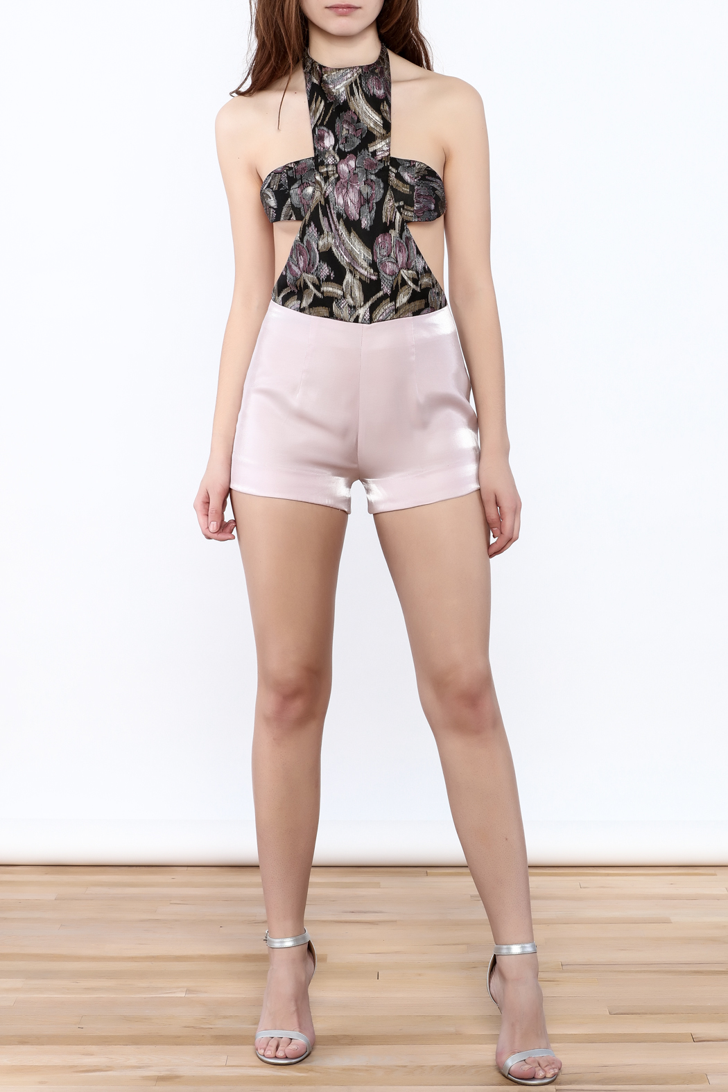 Dawn Sunflower Pink Summer Romper - Front Full Image